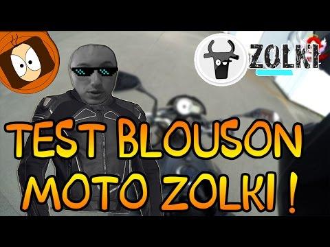 TEST BLOUSON MOTO RACING - RAPTOR CUIR / ZOLKI.COM