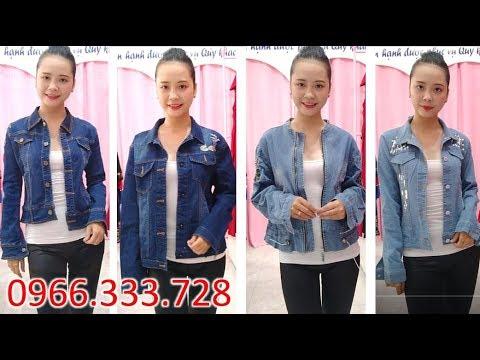 Bán SALE Áo Khoác Jean Nữ Đẹp Nhất - Hàng Xịn Giá Rẻ