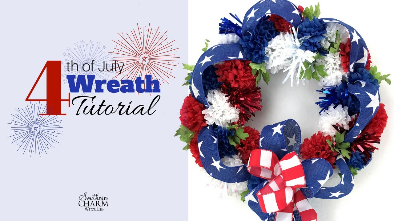 4th Of July Wreath Tutorial Using Silk Flowers Youtube