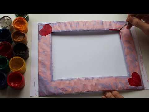 Рамка для фото своими руками Украшаем Подарок на День Влюбленных