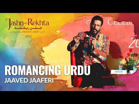 Romancing Urdu | Jaaved Jaaferi in conversation with Atika Farooqui | 5th Jashn-e-Rekhta 2018