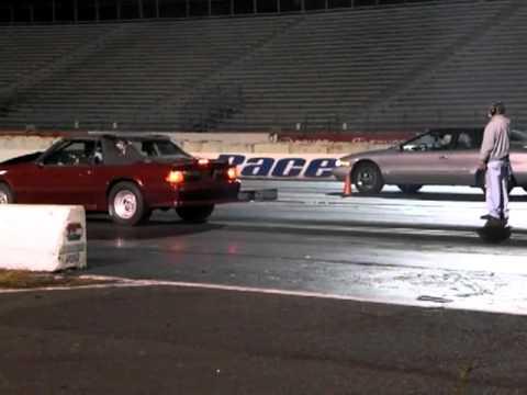 Ford Mustang Vs Lincoln Mark Viii Englishtown Drag Race Youtube