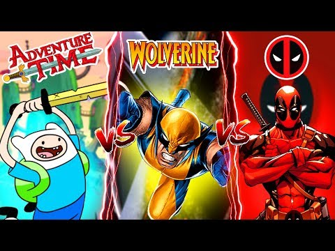 Minecraft ADVENTURE TIME FINN VS DEADPOOL VS WOLVERINE!!  WHOS IS YOUR FAVOURITE??