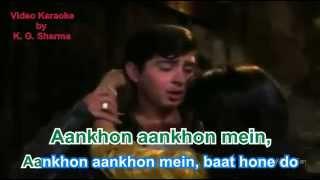 Ankho Ankho Mein Karaoke with Lyrics