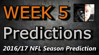 Week 5 - 2016 NFL Predictions