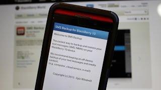 SMS Backup for BlackBerry 10