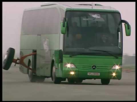 Mercedes Bus uden/med ESP
