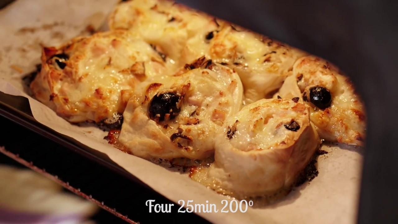 pizza roll d'hervé cuisine - youtube