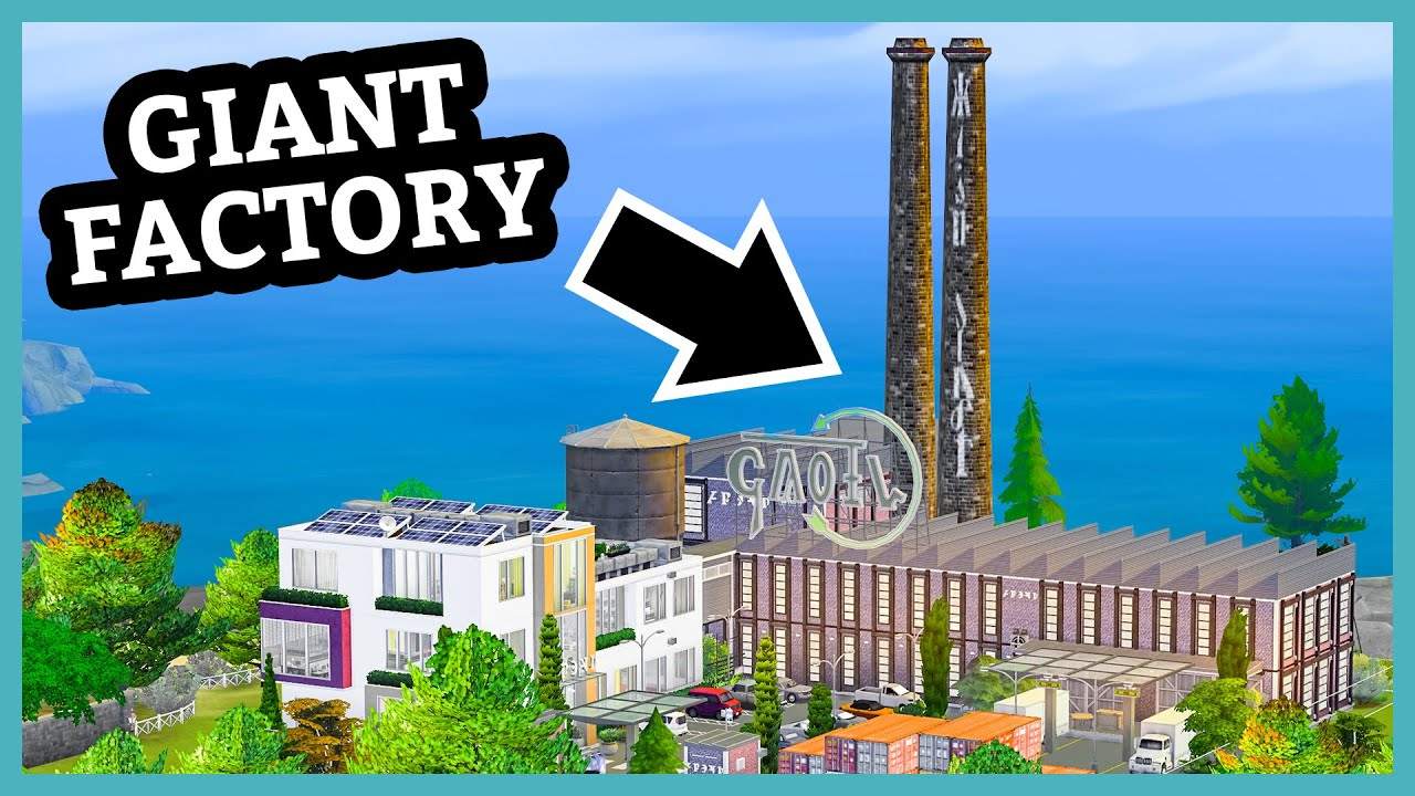 Someone built a HUGE factory in The Sims 4 (Your Gallery Builds) thumbnail