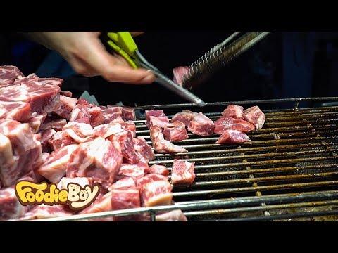 타이베이 스린야시장 길거리 음식 / 주사위 스테이크(Diced Beef Steak) / Taiwanese Street Food / Taipei Taiwan
