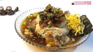 일본인 요리쌤 카도이의 쯔유로 만든 돼지고기 간장국수 …