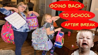 FIRST DAY BACK TO SCHOOL | After A Long Winter Break