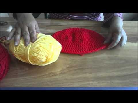 Gorro de Iron Man tejido en Crochet - YouTube 62aa0d3d69f