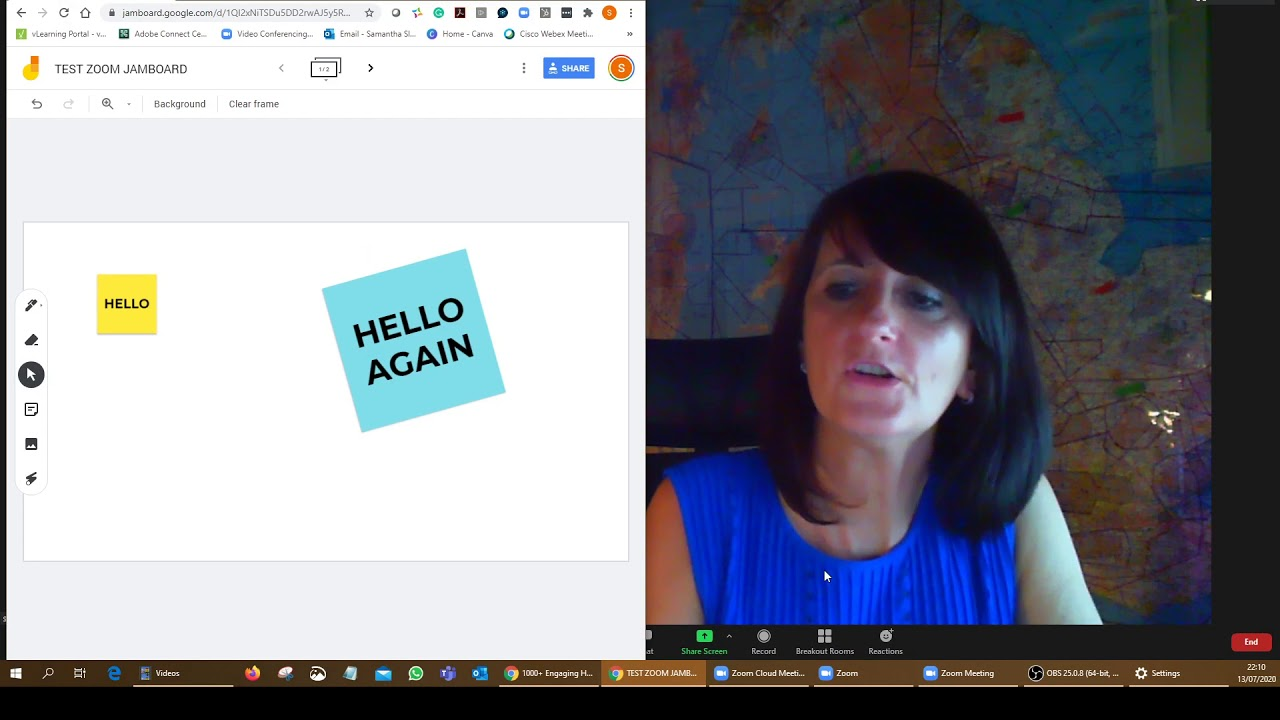 How to use GOOGLE JAMBOARD with ZOOM