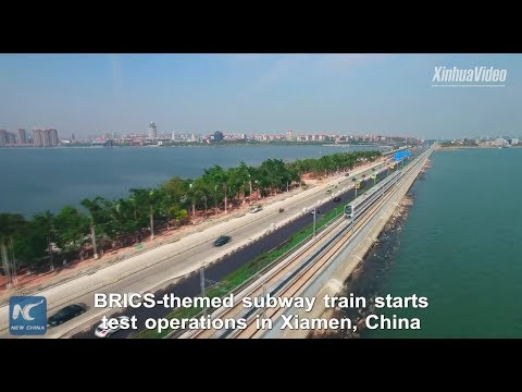 """Most beautiful waterfront metro line"" debuts in Xiamen, China"
