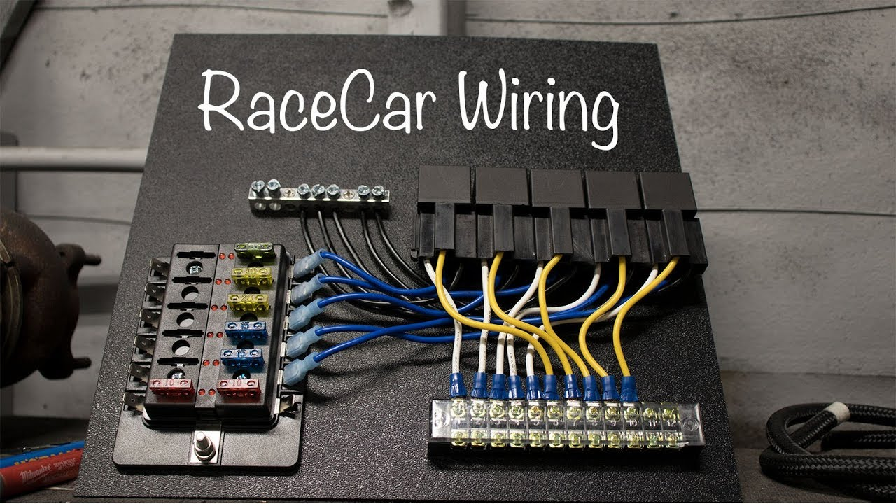 DIY Race Car Fuse/Relay Panel Race Car Relay Wiring on