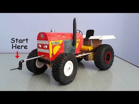 How to Make RC Tractor with Stick Start