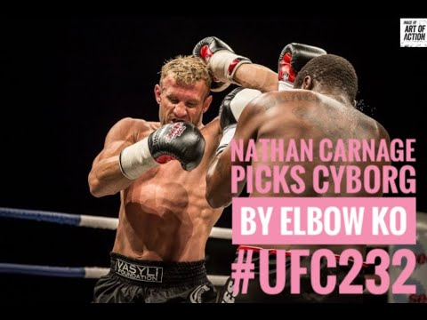 Australia Muay Thai legend Nathan Carnage picks Cris Cyborg by Elbow KO Vs Amanda Nunes UFC 232