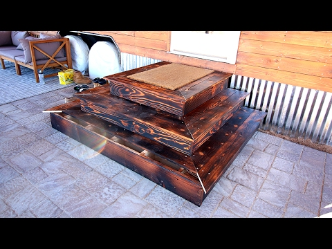 Diy Shou Sugi Ban Platform Steps For A Tiny House Youtube