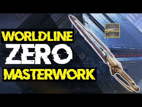 How To Make Worldline Zero Masterwork!! | Destiny 2