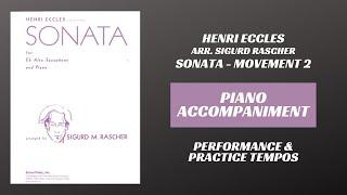 Henri Eccles (arr. Rascher) – Sonata in G minor, mvt. II (Piano Accompaniment)