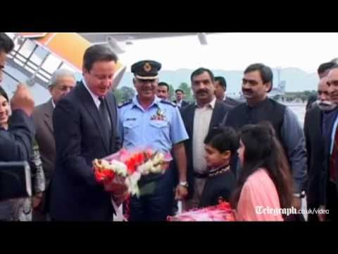 UK Prime Minister David Cameron arrives in Pakistan for one-day visit