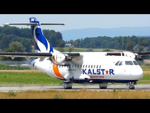 KALSTAR Aviation (EU blacklisted!) * ATR 42-500 Take Off at Bern
