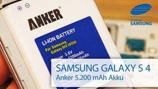 Samsung Galaxy S4 Anker 5200 mAh Akku Review deutsch und HD