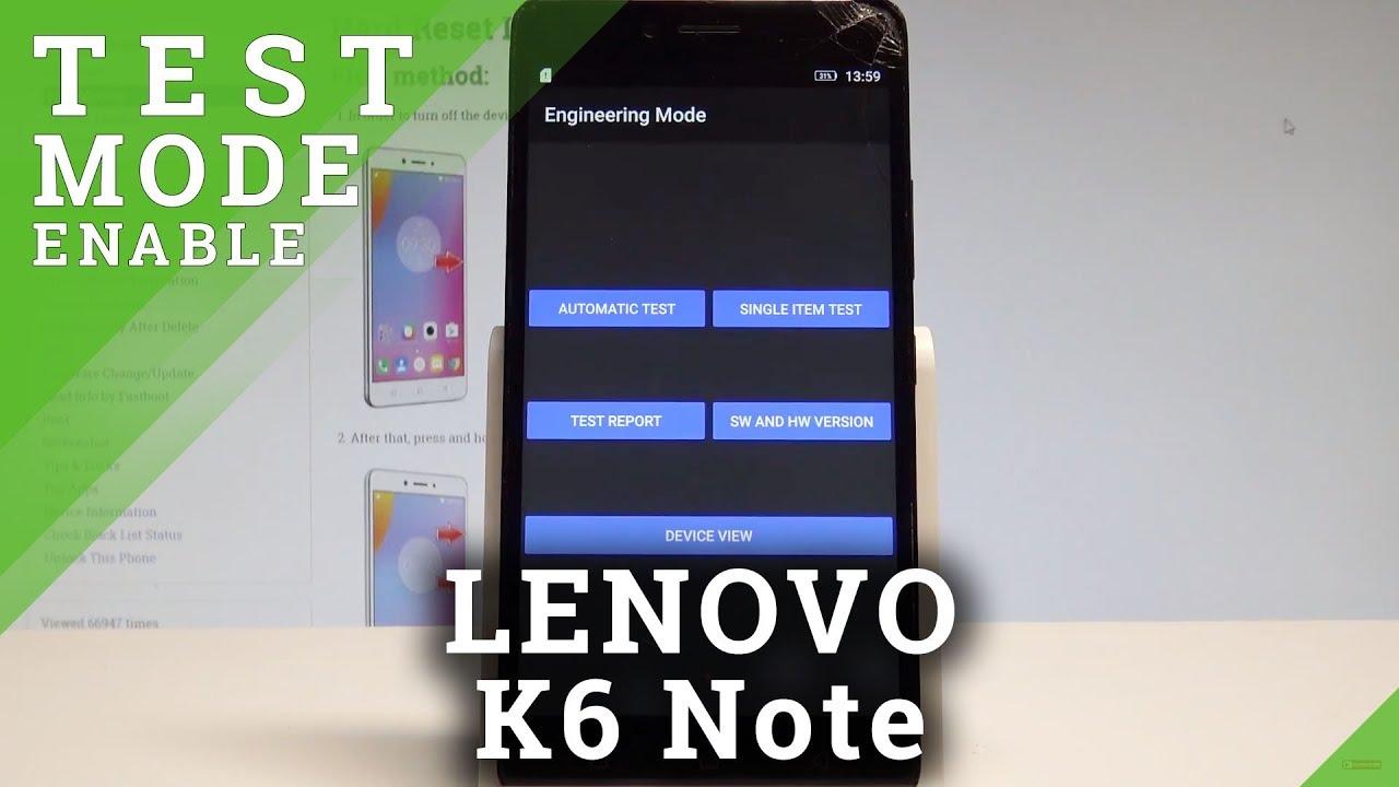 How to Engineering Mode on LENOVO K6 Note - Test Mode |HardReset Info