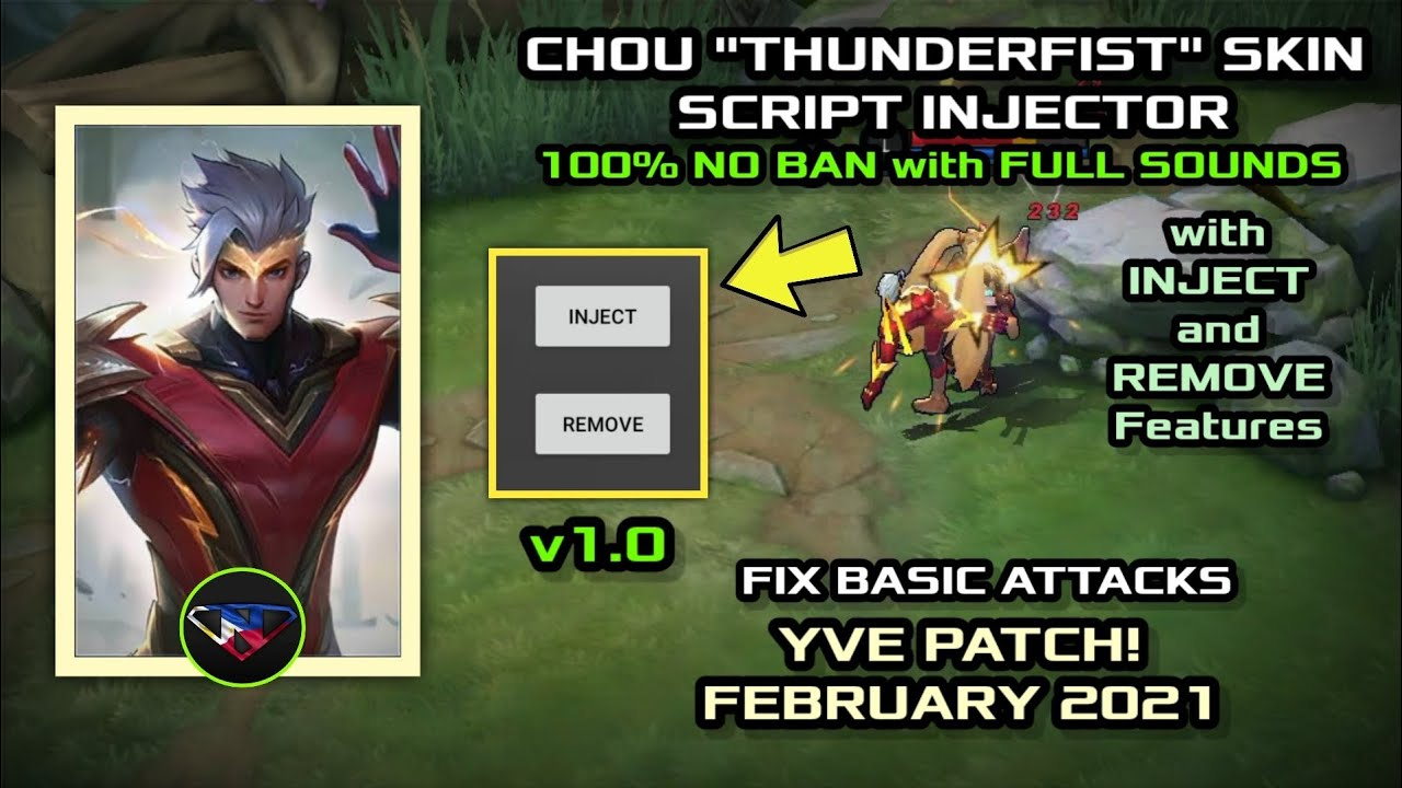 Chou Thunderfist Skin v220.20 Script Injector with FULL SOUNDS FIX ...