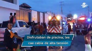 Uno de los menores fue trasladado en una ambulancia para recibir atención médica, mientras el resto fueron auxiliados en el lugar por padres de familia, bomberos y paramédicos