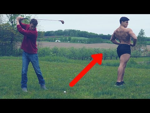 GOLF BALL DAMAGE TEST VS HUMAN FLESH | Crazy Golf Clash Experiment Fail | Slow Motion Golf Swing