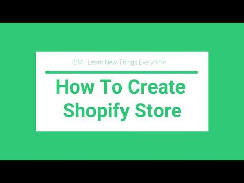 How To Create Shopify Store From Scratch For Beginners - In Hindi