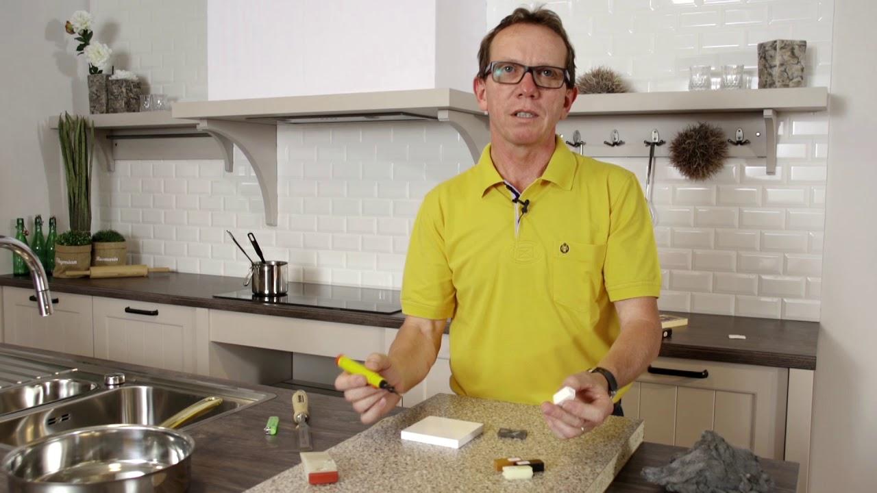 Trendline – Tipps und Tricks – Küchenarbeitsplatte bei Beschädigung der  Oberfläche selbst reparieren