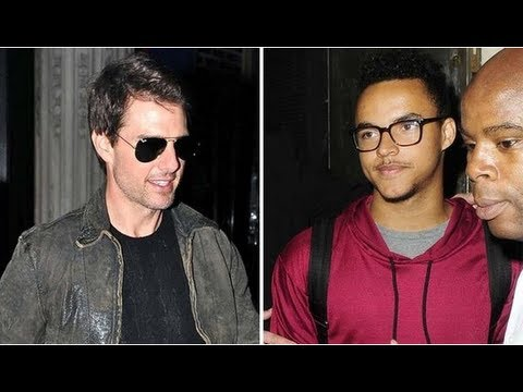 Tom Cruise Watches His Son Connor's DJ in London!