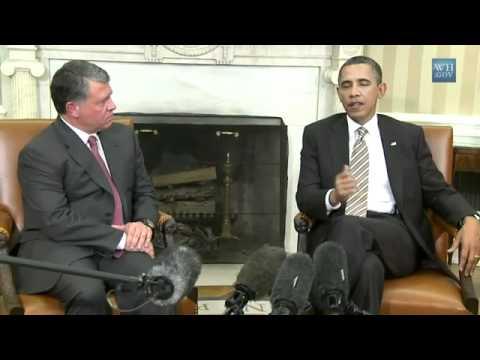 Obama meets King Abdullah of Jordan