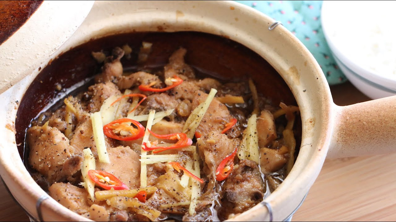 Ga Kho Gung (Clay Pot Braised Chicken with Ginger) Recipe - YouTube
