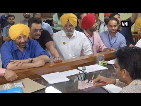 Sunny Deol files nomination from Punjab's Gurdaspur