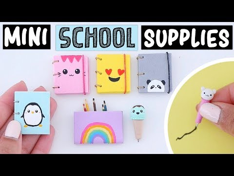 I MADE MINIATURE SCHOOL SUPPLIES THAT REALLY WORK! World's Smallest Notebook, Pen & MORE!