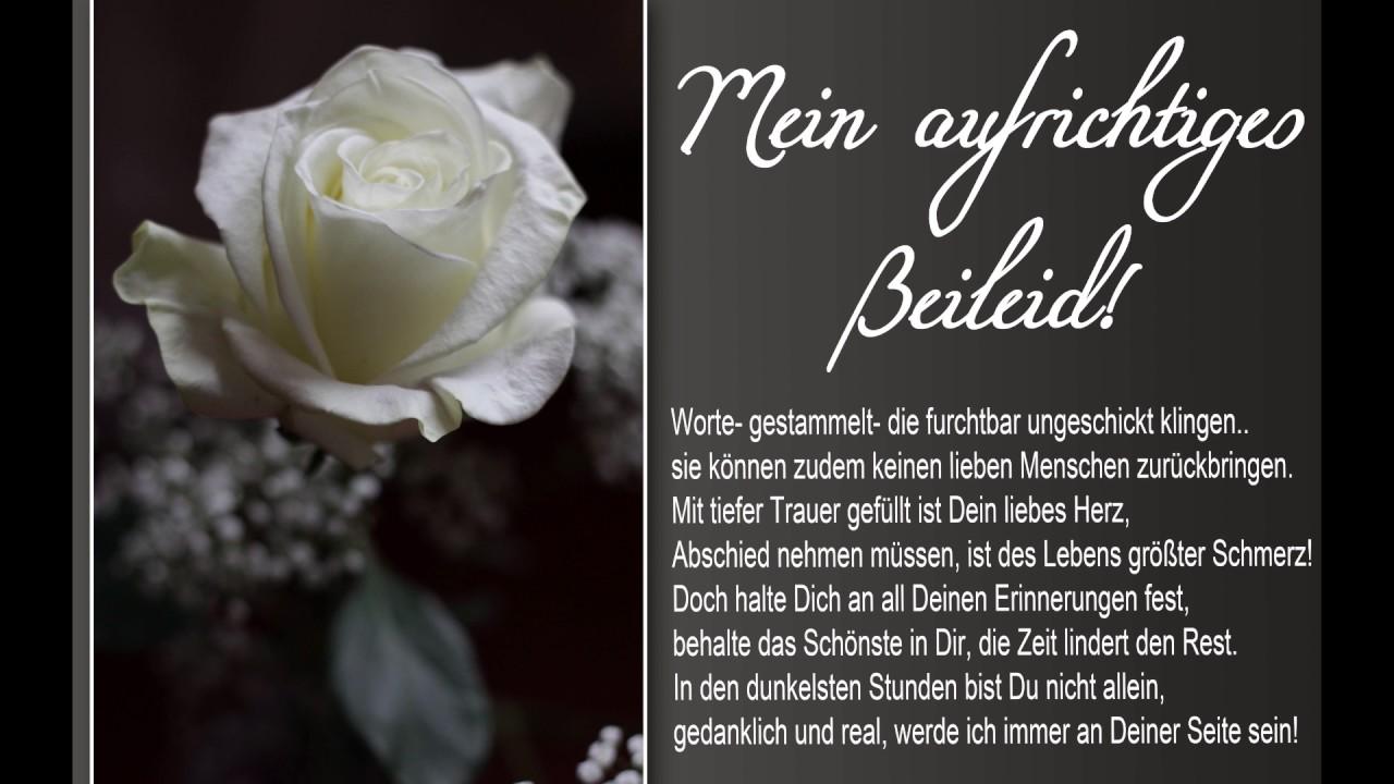 Beileidswunsche Fur Karten: Für Dich Mein Aufrichtiges Beileid Trauer Grußkarte Mit