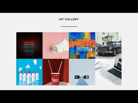 Responsive Gallery Section Using HTML CSS & JS