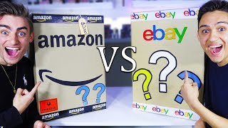 AMAZON MYSTERY BOX VS EBAY MYSTERY BOX! (OMG XBOX SERIES X!?) EPIC CHALLENGE - GIVEAWAY