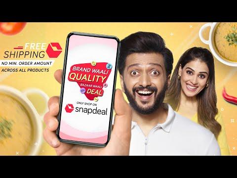 Snapdeal   Brand Waali Quality Bazaar Waali Deal   Riteish   Genelia   Snapdeal Online Shopping