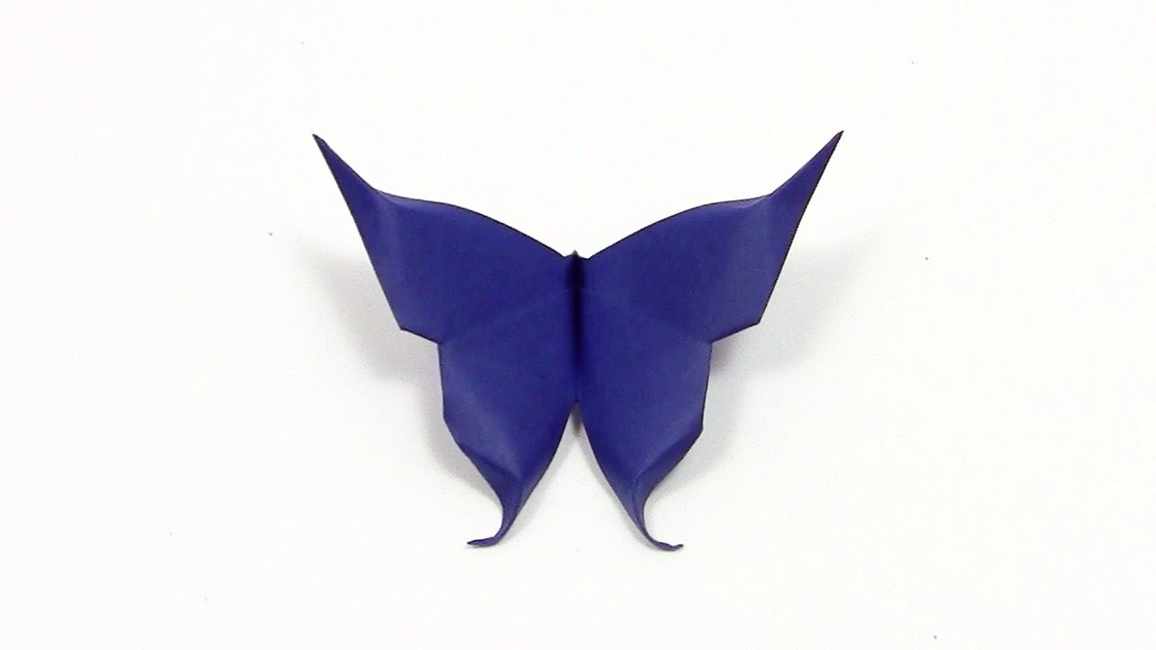 Papercraft Easy Origami Butterfly animation - Yakomoga Origami tutorial