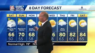 Showers later today, here