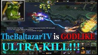 DOTA 1 - Warlock LEGENDARY GODLIKE GAME! (HARD GAME)
