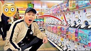 ガチャポン Buying EVERY Gachapon Capsule Toy ARCADE VENDING MACHINE in Akihabara - Tokyo, Japan
