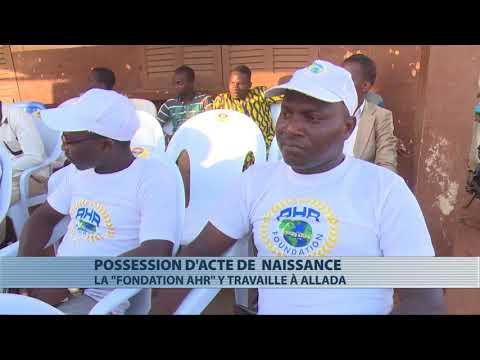 Allada : distribution d'actes de naissance aux profit de 500 enfants