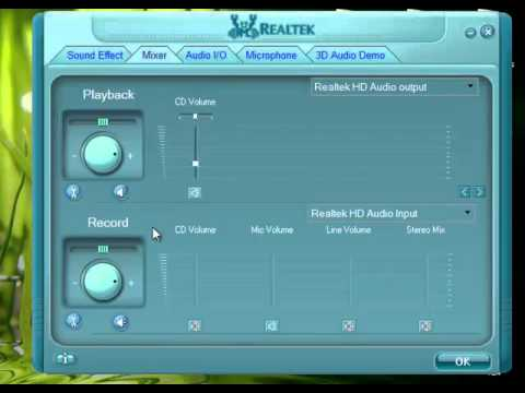 how to play microphone to realtek
