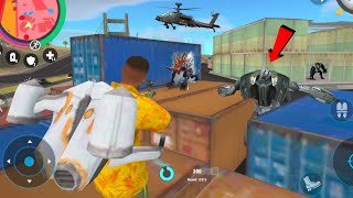 Real Gangster Crime (Real Hero Fight on Container) Car Robot Got tangled in Container - Gameplay HD screenshot 5